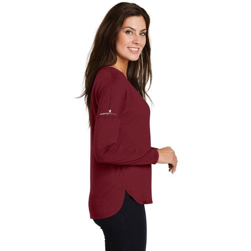 District Made Ladies Drapey Long Sleeve Tee
