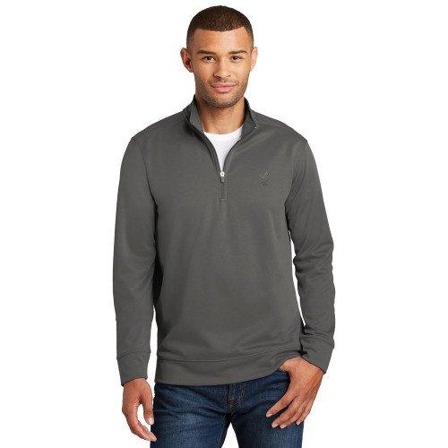 Port Authority Mens Performance Fleece 1/4-Zip Pullover Sweatshirt